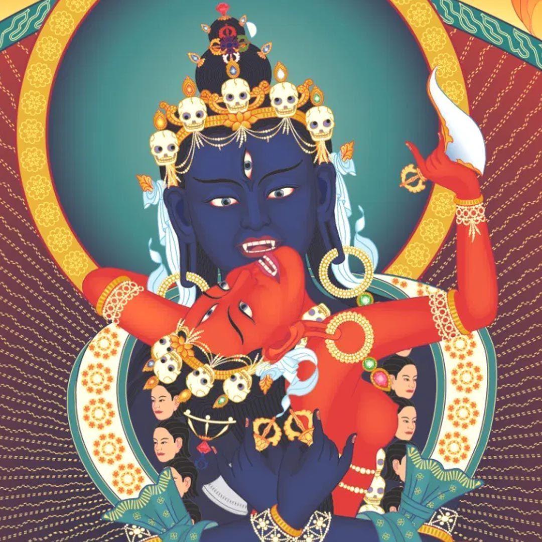 Buda Heruka y Vajrayoguini